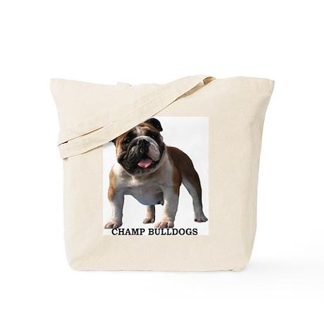 BULLDOG SMILES Tote Bag