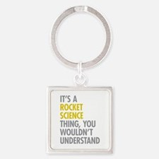 Rocket Science Thing Square Keychain