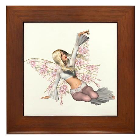 Flower Wing Fairy Light Framed Tile