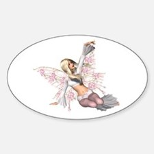 Flower Wing Fairy Light Oval Decal