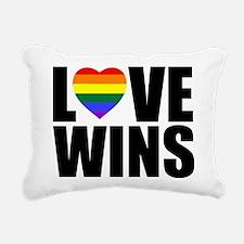 LOVE WINS! Rectangular Canvas Pillow