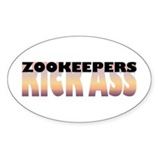 Zookeepers Kick Ass Oval Decal