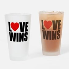 LOVE WINS! Drinking Glass