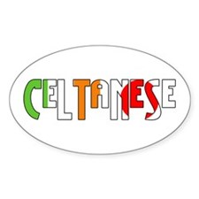 Celtanese Oval Decal