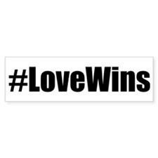 Love Wins! Bumper Bumper Sticker
