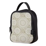 Champagne Lace crochet style Neoprene Lunch Bag