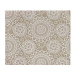 Champagne Lace crochet style Throw Blanket