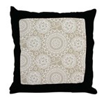 Champagne Lace crochet style Throw Pillow