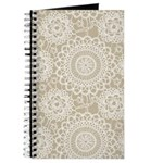 Champagne Lace crochet style Journal