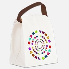Jesus saves (circle) Canvas Lunch Bag