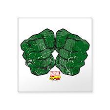 """Hulk Fists Square Sticker 3"""" x 3"""""""