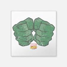 "Hulk Fists Square Sticker 3"" x 3"""