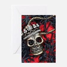 Skull and Spiders Greeting Cards
