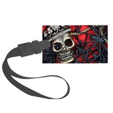 Skull and Spiders Luggage Tag