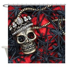 Skull and Spiders Shower Curtain