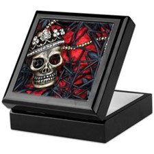 Skull and Spiders Keepsake Box