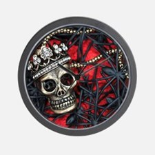 Skull and Spiders Wall Clock