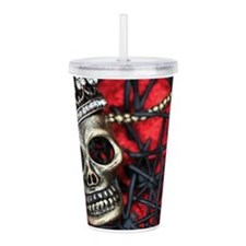 Skull and Spiders Acrylic Double-wall Tumbler
