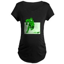 hockey Maternity T-Shirt