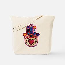 Hamsa Tattoo Tote Bag