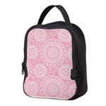 Pink Lace Doily Neoprene Lunch Bag