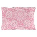 Pink Lace Doily Pillow Case