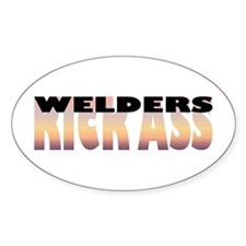 Welders Kick Ass Oval Decal