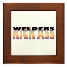 Welders Kick Ass Framed Tile