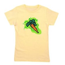 carrot on bold green background.PNG Girl's Tee
