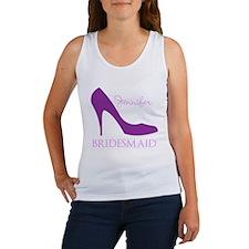 Purple Bridesmaid Women's Tank Top