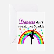 SPARKLING DANCER Greeting Card