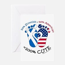 Scottish American Baby Greeting Cards