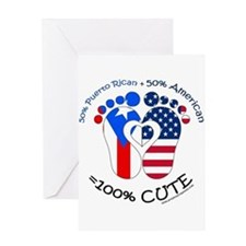 Puerto Rican American Baby Greeting Cards