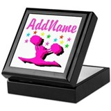 Cheerleading Square Keepsake Boxes