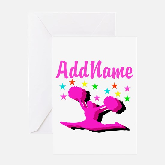 CHEERLEADING STAR Greeting Card