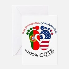 Portuguese American Baby Greeting Cards