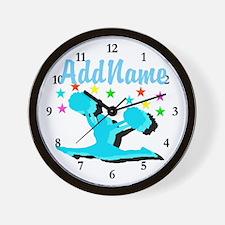 CHEERLEADER 4EVER Wall Clock