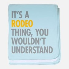 Its A Rodeo Thing baby blanket