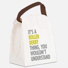 Roller Derby Thing Canvas Lunch Bag