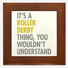 Roller Derby Thing Framed Tile