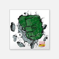 """Hulk Fist Square Sticker 3"""" x 3"""""""