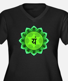 Green Anahata Heart Chakra Plus Size T-Shirt