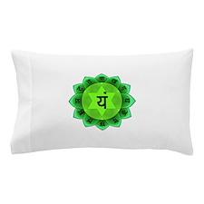 Green Anahata Heart Chakra Pillow Case