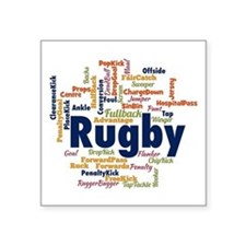 Rugby Word Cloud Sticker