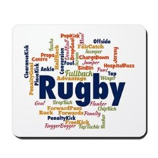 Rugby Word Cloud Mousepad