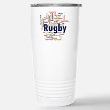 Rugby Word Cloud Travel Mug