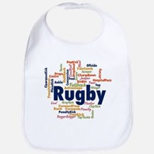 Rugby Word Cloud Bib