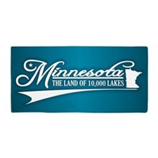 Minnesota State of Mine Beach Towel