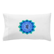 Blue Anahata Heart Chakra Pillow Case