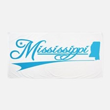 Mississippi State of Mine Beach Towel